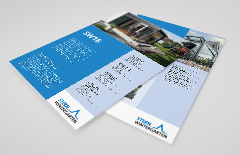 'Flyer zweiseitig für Stern Wintergarten GmbH