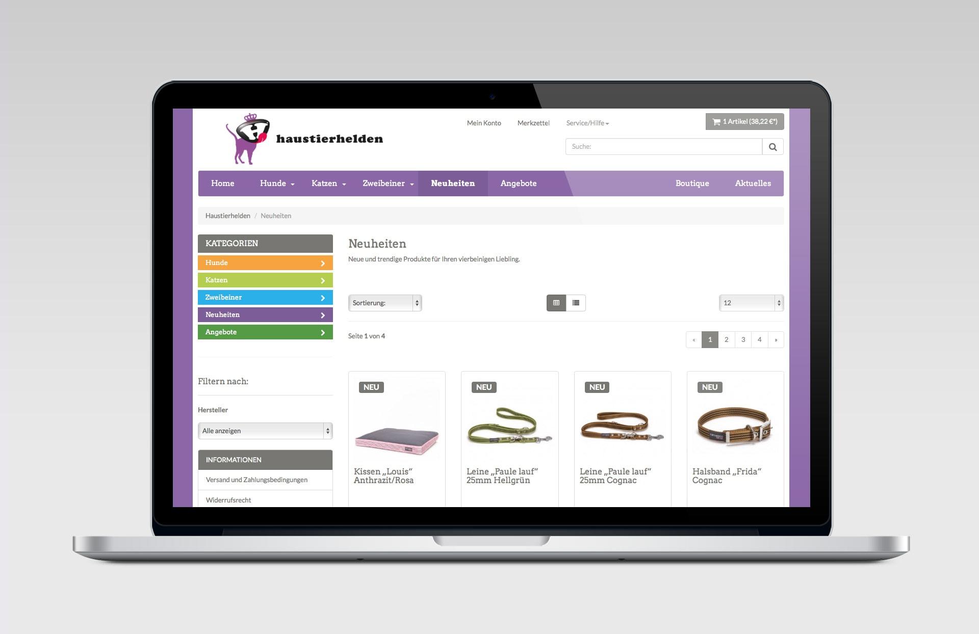 Haustierhelden Onlineshop Shopware