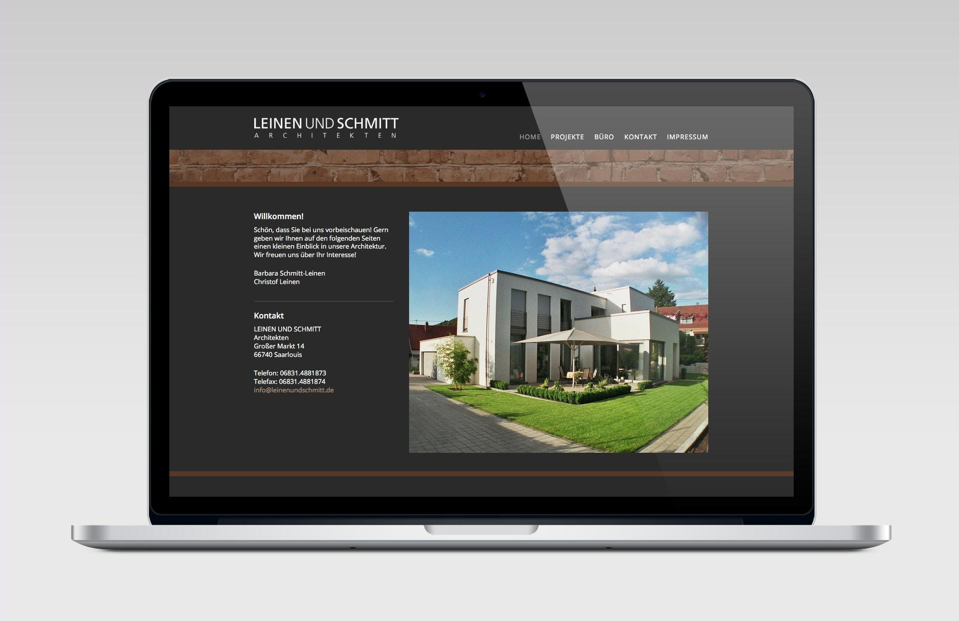 LEINEN UND SCHMITT GbR responsive Website